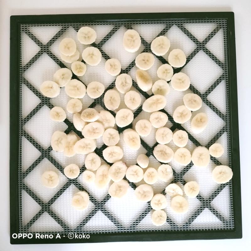 食品乾燥機 バナナスライスチップス